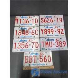 (7) Alberta License Plates