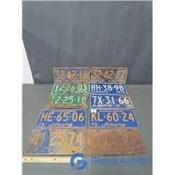 (10) Alberta License Plates - 70's, 2 Sequential Plates