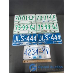 3 Pairs of BC License Plates & Extra