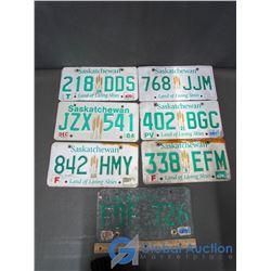 (7) SK License Plates