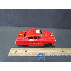 Tin Fire Chief Car