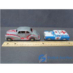 One Metal & One Tin Toy Car