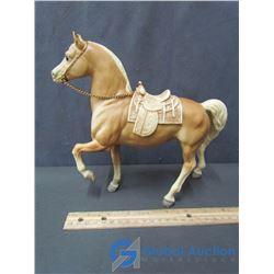 Plastic Toy Horse w/ Saddle