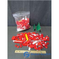 (2) Bags of Reliable Esay Lock Plastic Building Bricks