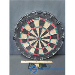 Dart Board With 3 Darts