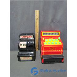 (2) Tin Toy Cash Registers
