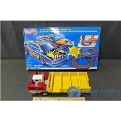 Hot Wheels Race Track and Toy Truck
