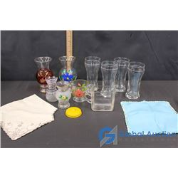 Bartlett & Collins GlassWare, Glass Measuring Cup, & Etc.