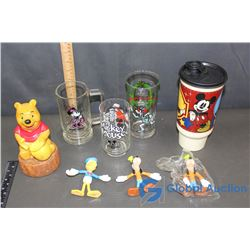 Assorted Disney: Collectibles & Glassware