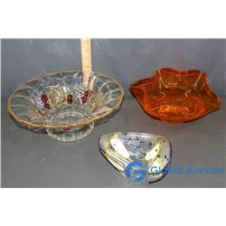 Glass Serving Bowls & Candy Dish