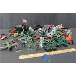 Collection of Army Related Plastic Men & Accessories