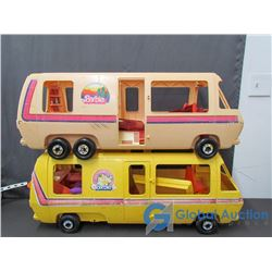 (2) Barbie Campers