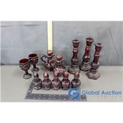 Red Glass Urne Cape Cod Collection