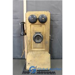 Vintage Wooden Wall Phone