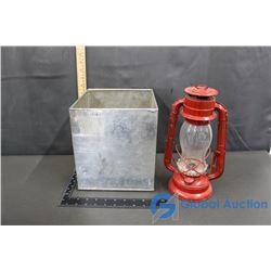 Tin Box & Hope Lantern No. 500