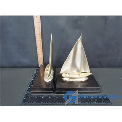 Set of Sailing Ship Bookends