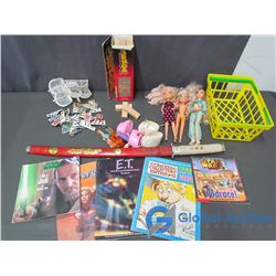 Brat Dolls and Accessories, Jenga, Books, Toy Sword and Hockey Game Pieces