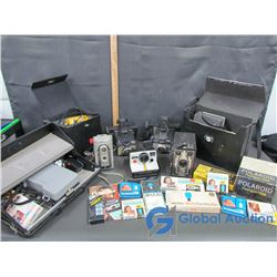 Assorted Cameras, Cases & Accessories