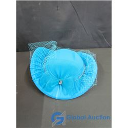 Vintage Blue Ladies Fancy Hat