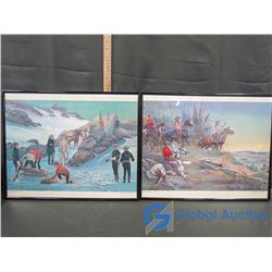 """(2) Framed Pictures: """"Yukon Gold Rush-1898"""", & """"North-West Rebellion-1885"""""""