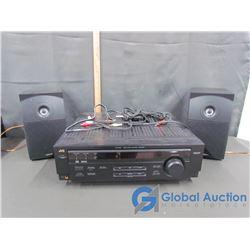 JVC RX-6010V Audio/Video Receiver & (2) Speakers