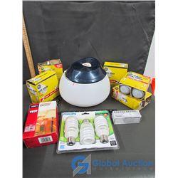 Sunbeam Humidifier, & Variety Of Light Bulbs