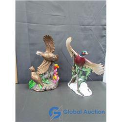 (2) Ceramic Bird Figurine Decor
