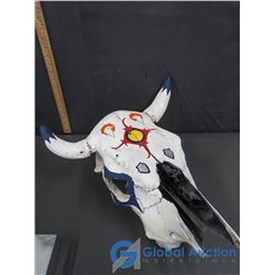Painted Cattle Skull (Horn Detached)