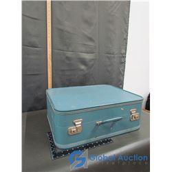 (3) Retro Hard Shelled Suitcase