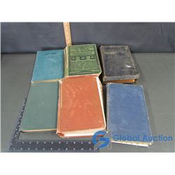 (6) Hard Cover Books