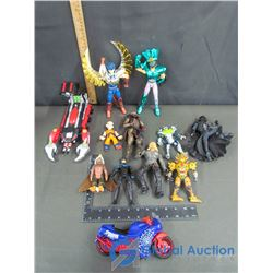 Assorted Action Toy Figures