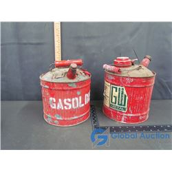 (2) Red One Gallon Gas Cans
