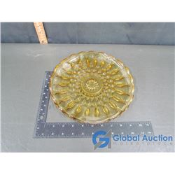 Amber Glass Plate