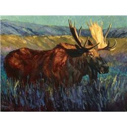 """Moose Flats"" s/n limited edition giclée print"