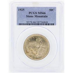 1925 Stone Mountain Commemorative Half Dollar Coin PCGS MS66