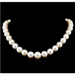 South Sea Cultured Pearl and Diamond Necklace