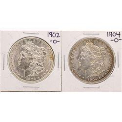 Lot of 1902-O & 1904-O $1 Morgan Silver Dollar Coins