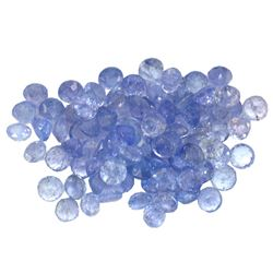 12.14 ctw Round Mixed Tanzanite Parcel