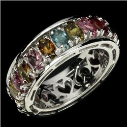 Natural Tourmaline 5x3mm Fancy Color Ring