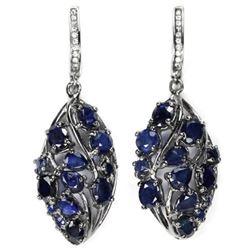 Natural Intense BLUE SAPPHIRE Earrings