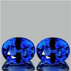 Natural Kashmir Royal Blue Sapphire Pair 5x4 MM - VVS