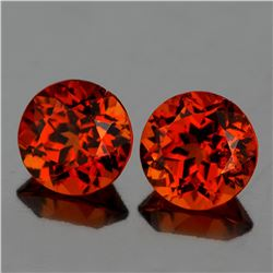Natural  Mandarin Orange Spessartite Garnet Pair - FL