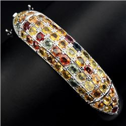 Natural Fancy Color Sapphire 163.14 Cts Bangle