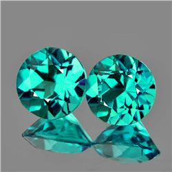 Natural Paraiba Green Blue Apatite Pair 4.70  MM {VVS}