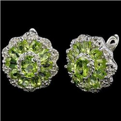 NATURAL AAA APPLE GREEN PERIDOT Earrings