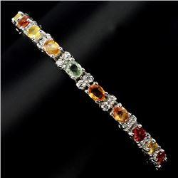 Natural Fancy Colors Sapphire 46.96 Ct Bracelet