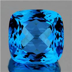 Natural Magnificent Swiss Blue Topaz 35.94 Ct - Flawles