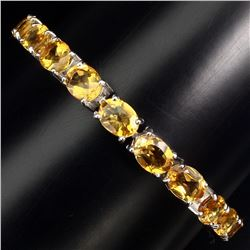 Natural Top Rich Yellow Citrine 94.85 Ct Bracelet