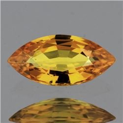 Natural Golden Yellow Sapphire 9x4 Mm - VVS