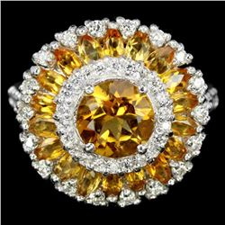 NATURAL ORANGISH YELLOW CITRINE Ring